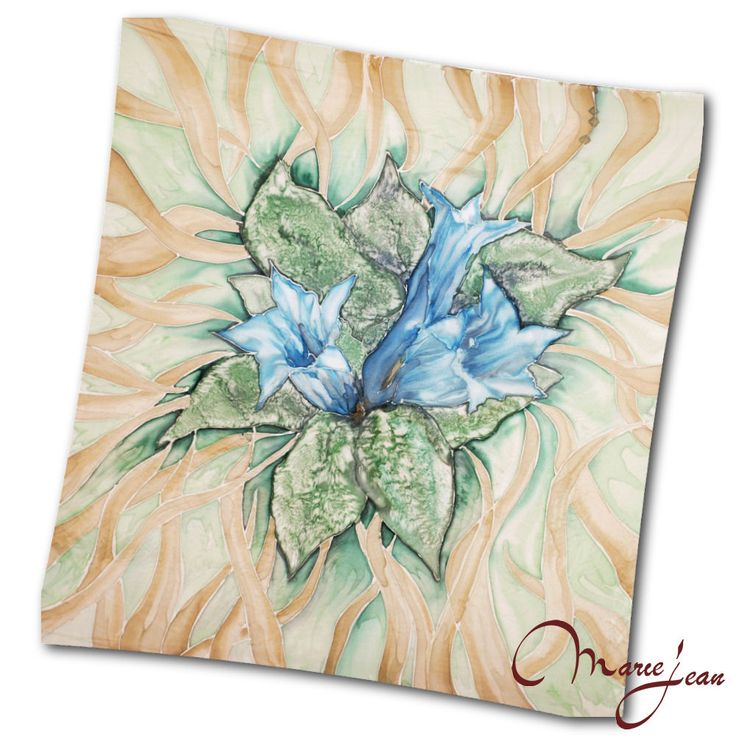 Maľovaná hodvábna šatka HOREC, motivovaná horskou rastlinou. Máloktorá rastlina v nás vyvolá väčší pocit horkosti ako horec – nemusíme ho ani ochutnať, stačí vysloviť jeho meno. Horec Patrí medzi prastaré liečivé drogy. http://bit.ly/1kc43Qa