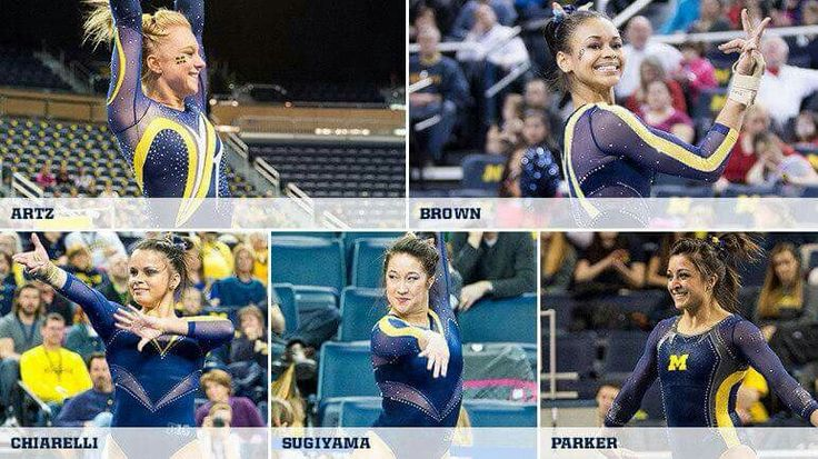 5 University of Michigan Gymnast Receive All Big 10 Women Gymnastics Honors. : ) Go Blue!