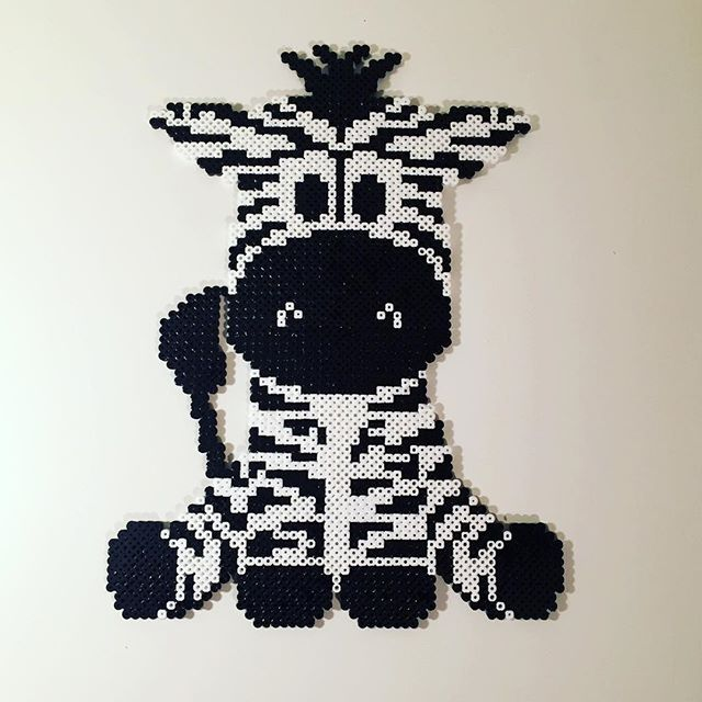 Zebra hama beads by leamk90