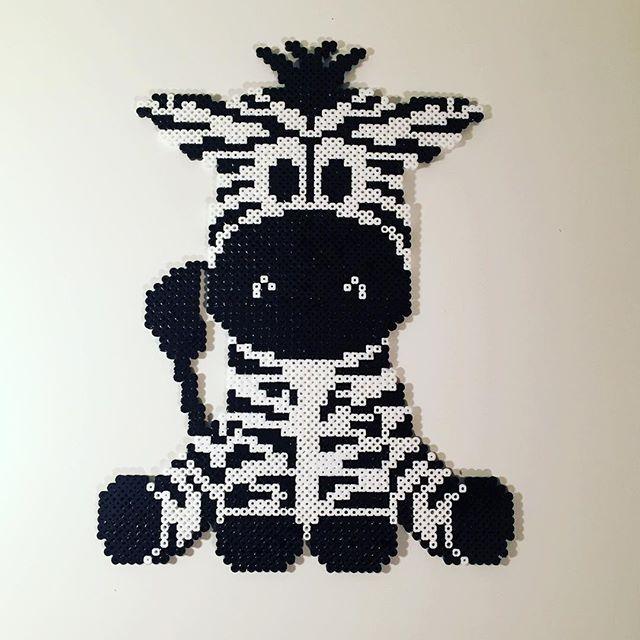 Zebra hama beads by leamk90 - Pattern…