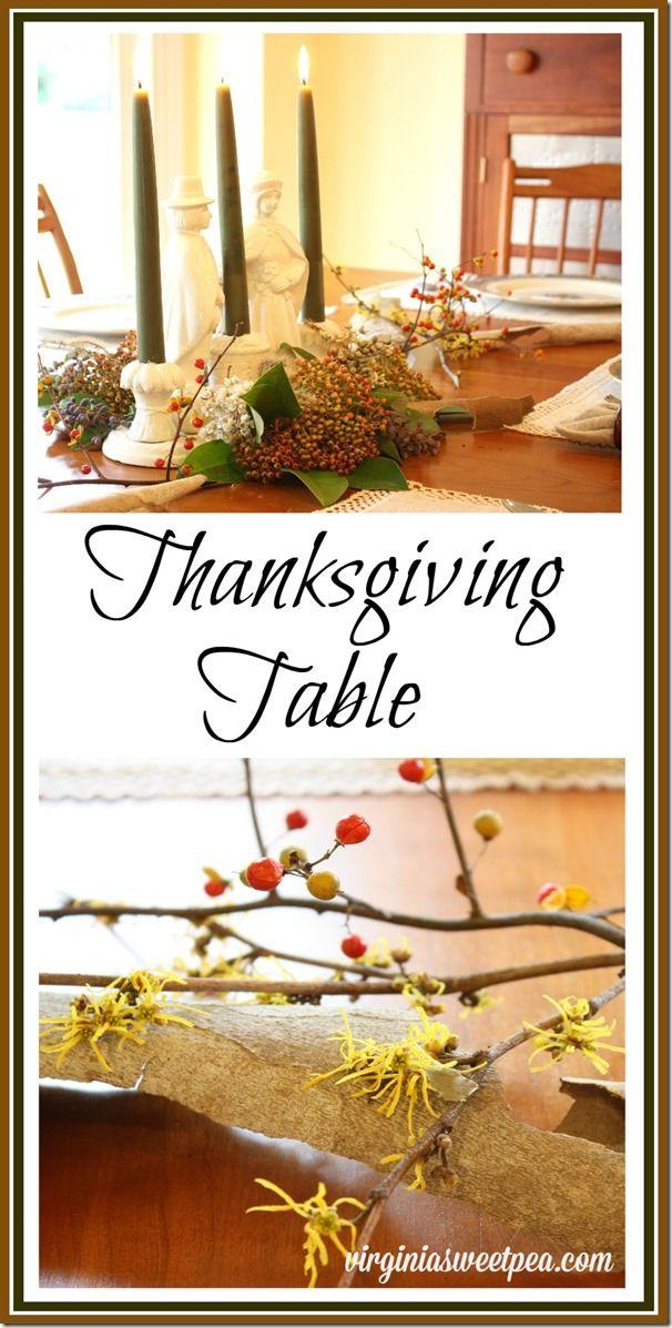 Thanksgiving centerpiece nature meets vintage