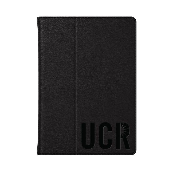 University of California - Riverside Black Leather Embossed iPad Folio, Classic - iPad Air