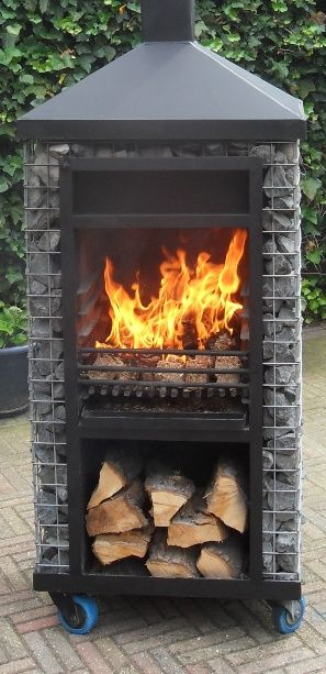 Brandende terrashaard