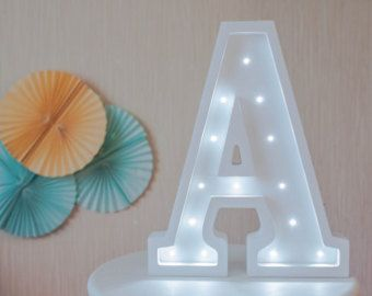 Birthday gift Wooden letters Marquee letter light Marquee