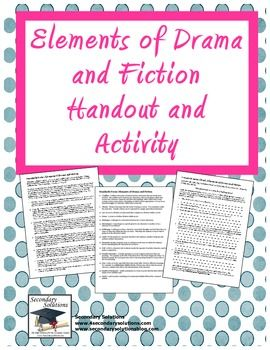 FREE Elements of Drama and Fiction Notes and Activity