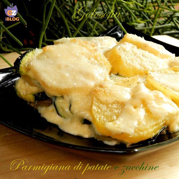 parmigiana di patate e zucchine-ricetta secondi-golosofia