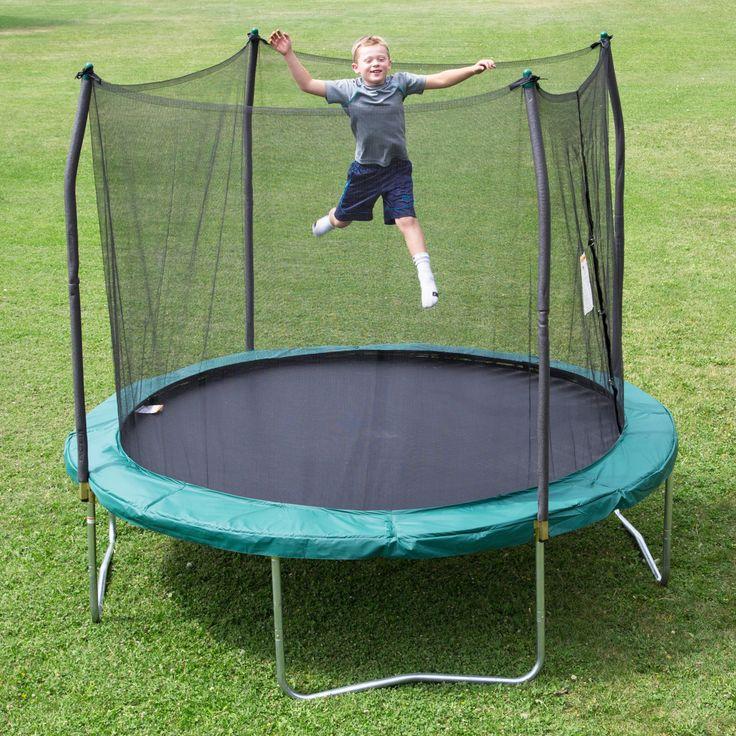 Skywalker Trampolines 10 ft. Round Trampoline with Enclosure - SWTC100G