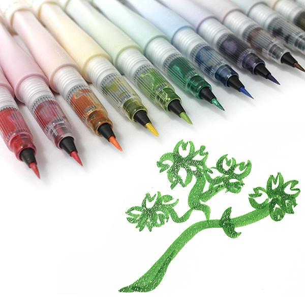 Kuretake Zig Wink of Stella Glitter Brush Pens http://www.jetpens.com/Kuretake-Zig-Wink-of-Stella-Glitter-Brush-Pens/ct/1722