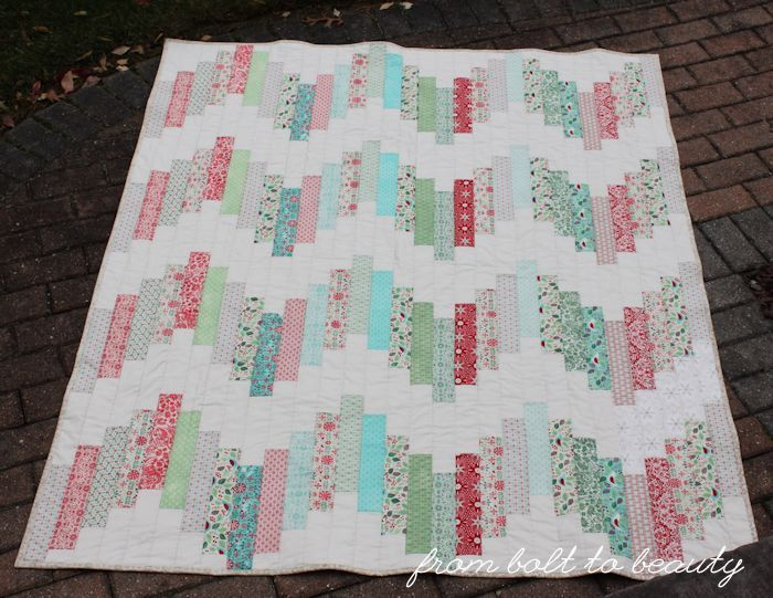 Tutorial: Ridiculously Easy Jelly Roll Quilt (From Bolt to Beauty)