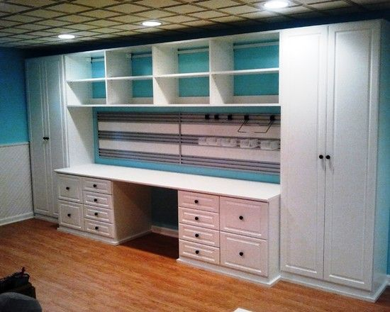 Great Gift wrapping station. Basement Design, Pictures, Remodel, Decor and Ideas - page 19