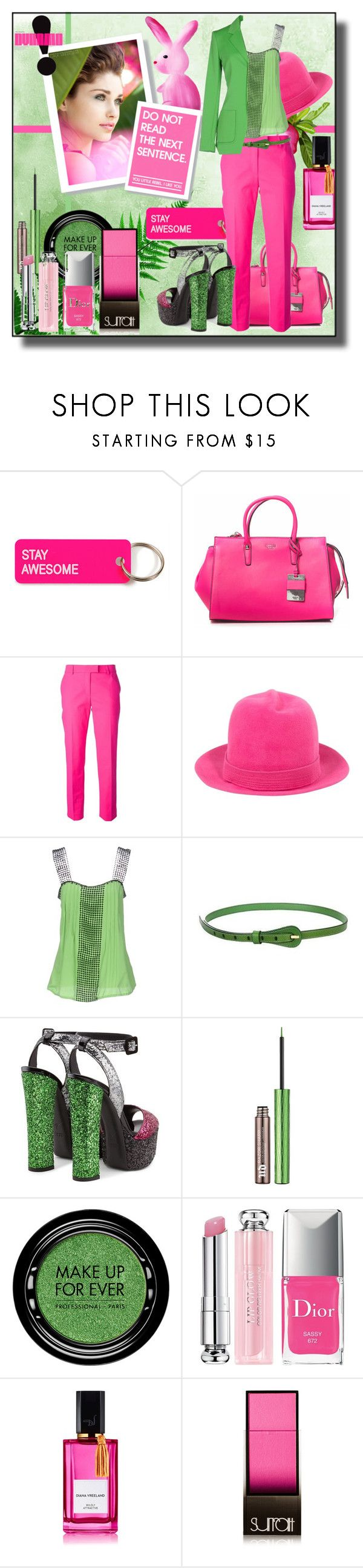 """Stay Awesome"" by kelly-floramoon-legg ❤ liked on Polyvore featuring Various Projects, GUESS, Moschino, Susan van der Linde, Maria Grazia Severi, Giuseppe Zanotti, Urban Decay, MAKE UP FOR EVER, Christian Dior and Diana Vreeland"