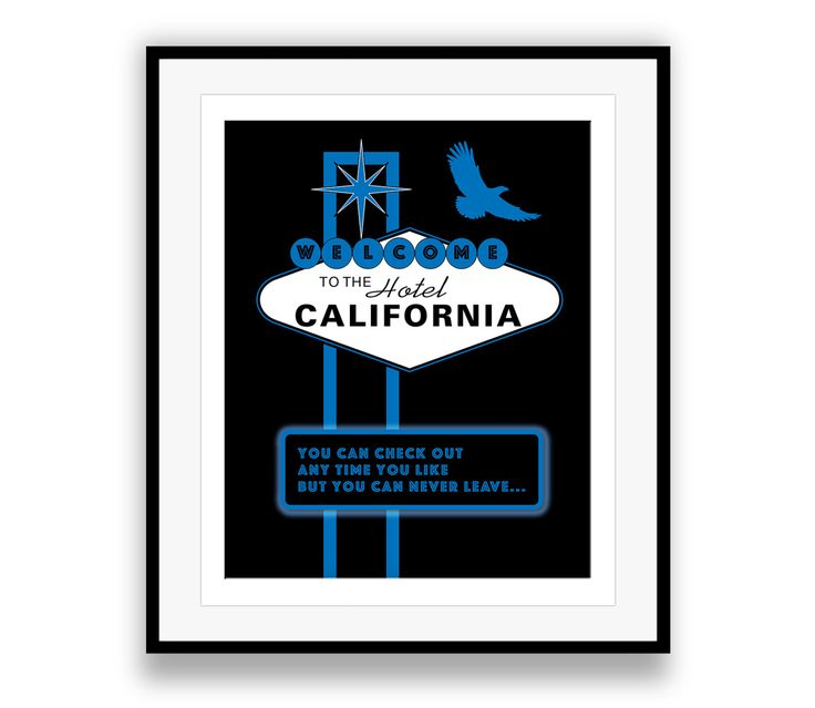 A personal favorite from my Etsy shop https://www.etsy.com/ca/listing/262781916/hotel-california-the-eagles-music-lyric