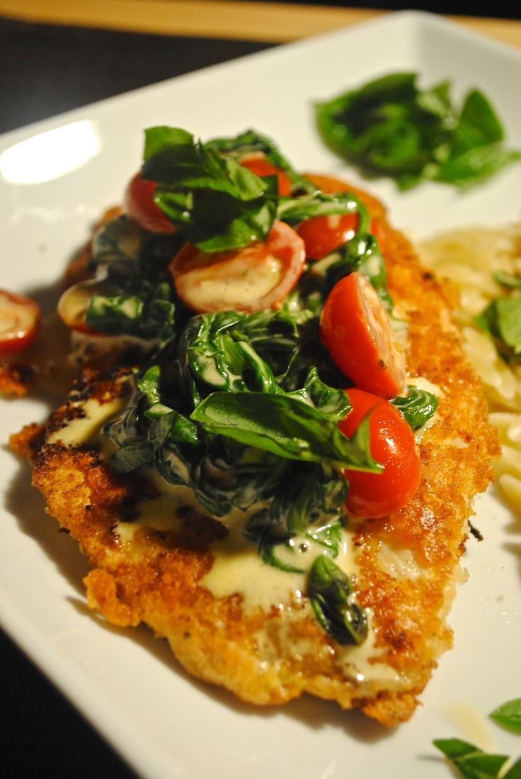 Parmesan Crust Tilapia with Tomato Basil Cream Sauce | Cooking with ...