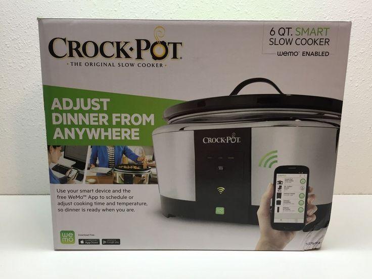 Crock Pot 6qt Smart Slow Cooker Wemo App Control Enabled Adjust Dinner Anywhere #CrockPot