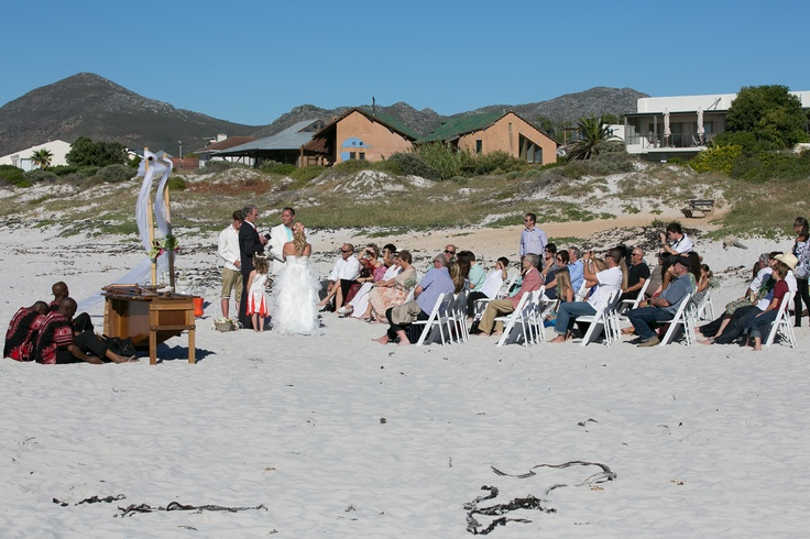 We had a beach wedding in Cape Town with an African Marimba band