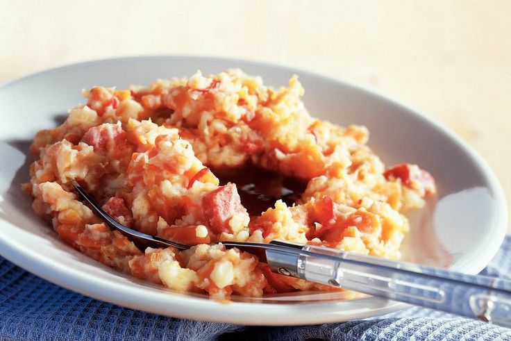 Kijk wat een lekker recept ik heb gevonden op Allerhande! Hutspot met salami