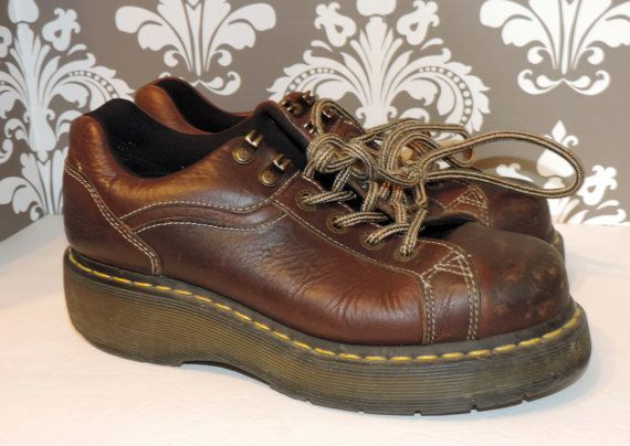 Dr Martens uk 6 US Womens 8 EU 39 Brown Leather by VintyThreads, $33.11