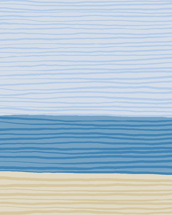 Fine Art Print. Stripe Landscape: Sand, Sea, Sky. October 14, 2012.