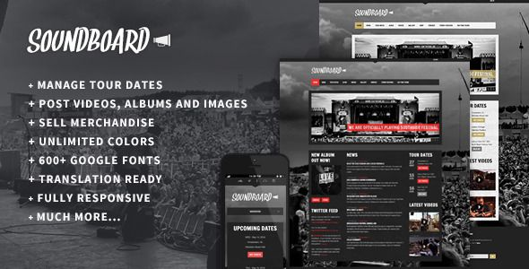Free Download Soundboard Responsive WordPress Theme is a powerful music WordPress theme with special features for bands and solo artists. http://goo.gl/kv2nZf