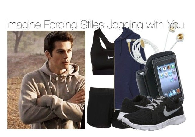 """""""Imagine Frocing Stiles Jogging with You"""" by fandomimagineshere ❤ liked on Polyvore featuring NIKE"""