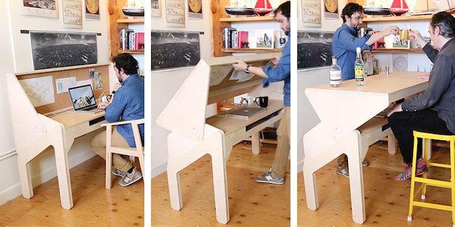辦公時順便小酌一杯吧!Convertible Desk翻轉兩用桌 | 大人物