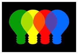 overlapping; kleuren die elkaar overlappen