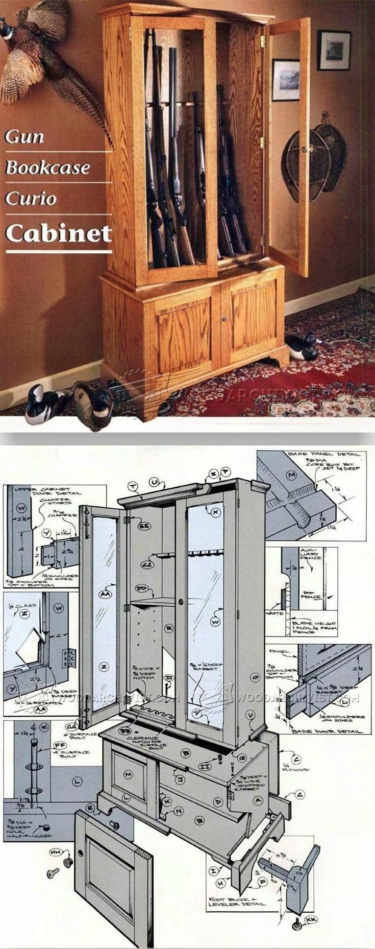 Gun Cabinet Plans - Furniture Plans and Projects | WoodArchivist.com