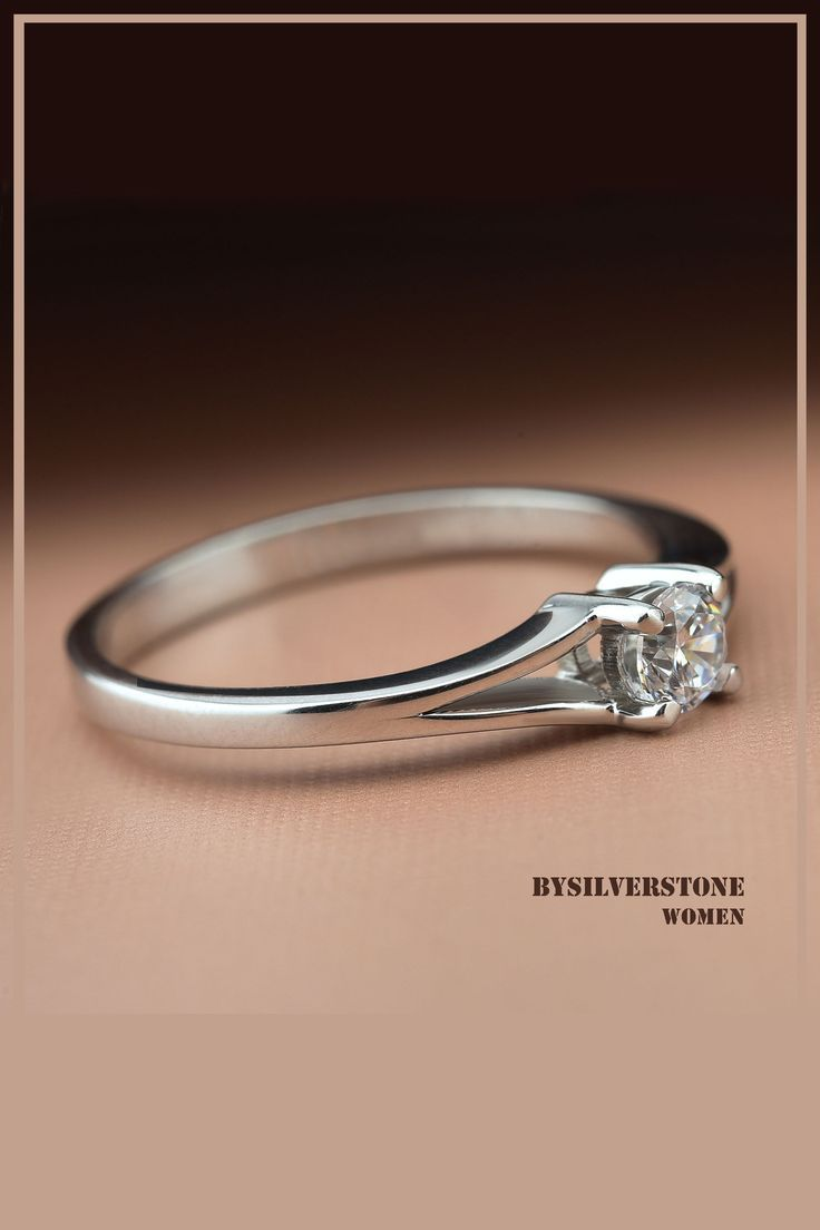 Engagement Real Diamond Ring Round Solitaire Rings 18k White Gold Solitaire Rings 0 20 Carat Diamond Wedding Ring 18k Solid Gold Ring