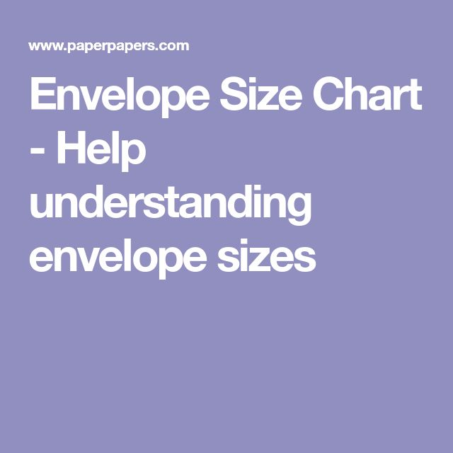 The  Best Envelope Size Chart Ideas On   Card Sizes