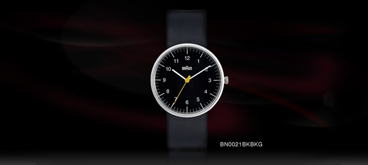 This watch measures 38mm diameter x 8.5mm thick matt stainless steel case with a leather strap.