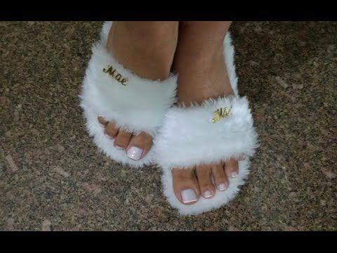 Transforme seu chinelo velho em slippers by Customização & Cia - YouTube