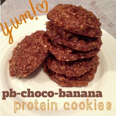 Ripped Recipes - Pb-Choco-Banana Protein Cookies - Sweet, moist, and deliciously healthy!