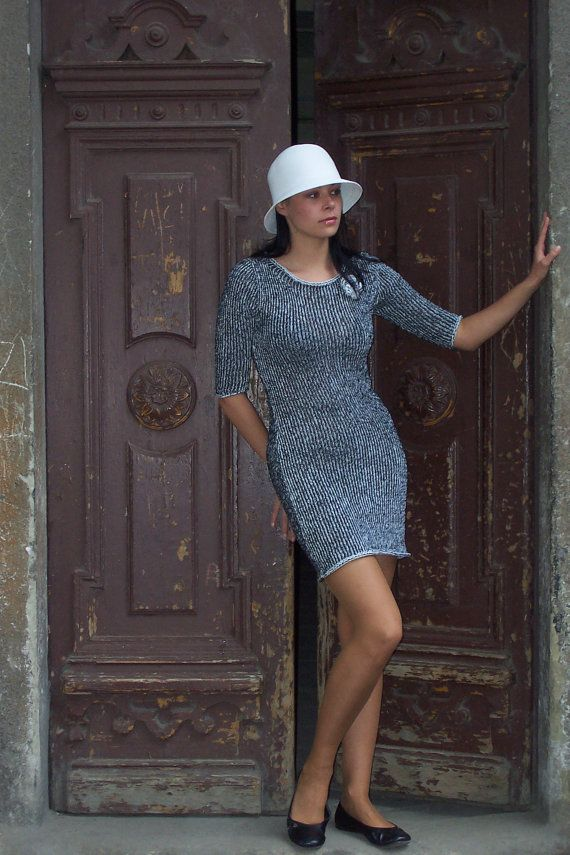 Merino wool and cotton Dress by Rewella on Etsy
