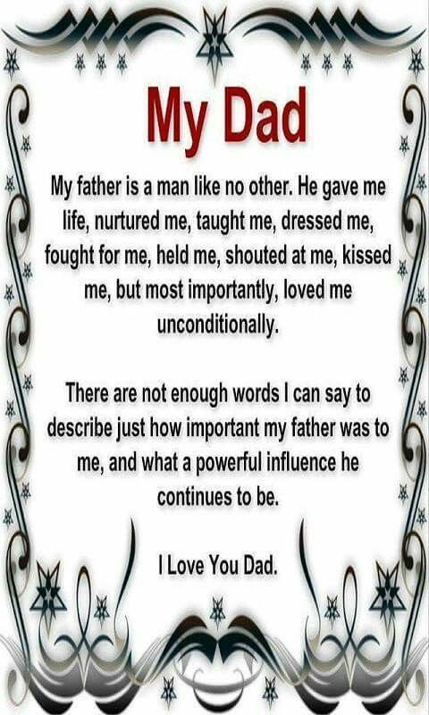 Quotes about dads | Fathers Day | Dad quotes, Love you dad