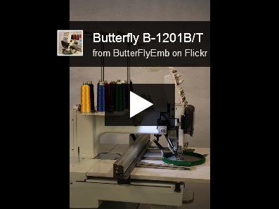Butterfly Single Head 15 needle Commercial Embroidery Machine www.ButterFlyEmb.com