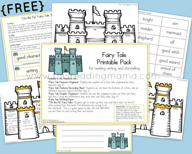 FREE Fairy Tale Printable Pack {for Reading, Writing, and Storytelling} | This Reading Mama