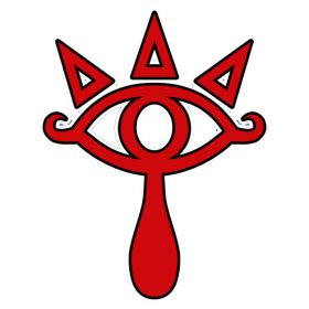 The eye logo from the Ocarina of Time, for Sheikh's costume