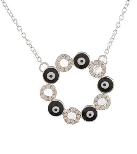 MJartoria Rhinestone Pave Rings and Black Enamel Evil Eye Circle Pendant Chain Necklace Silver Color MJartoria http://www.amazon.com/dp/B00XLGETLG/ref=cm_sw_r_pi_dp_Alvvvb1BWS8K1