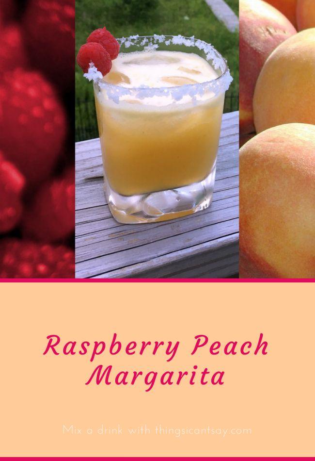 Raspberry Peach Margarita recipe. A delicious sumer margarita recipe.