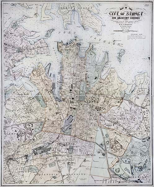 Map of the City of Sydney and Adjacent Suburbs, 1907