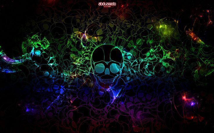 colourful skull wallpa...