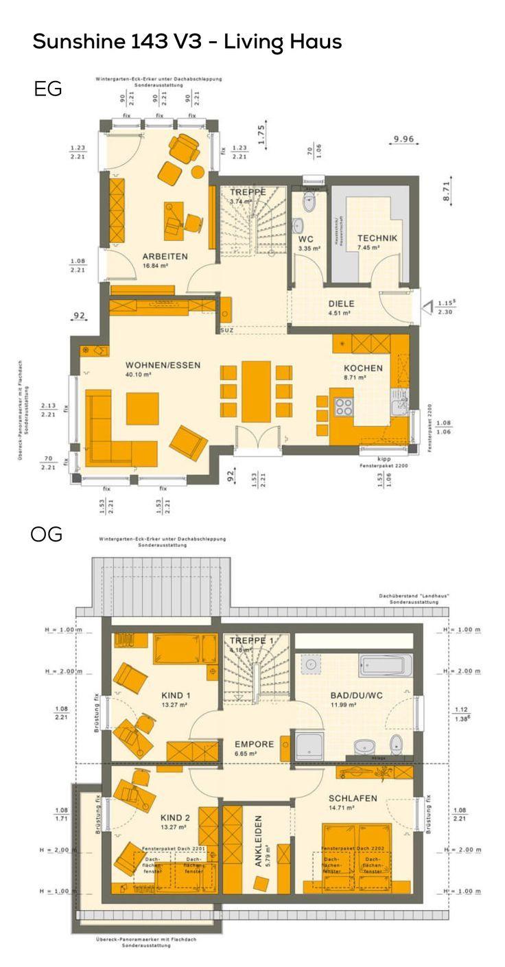 Grundriss Einfamilienhaus Klassisch Mit Satteldach Architektur