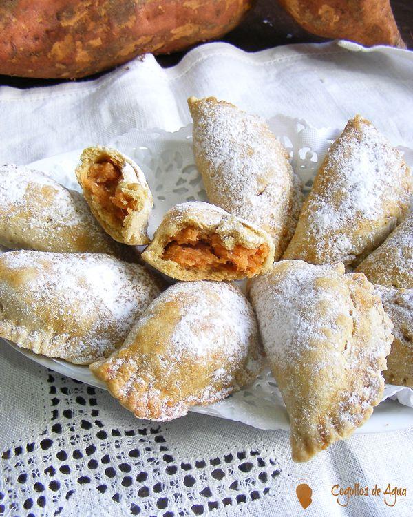 Empanadillas rellenas de dulce de boniato - Sweet potato empanadas