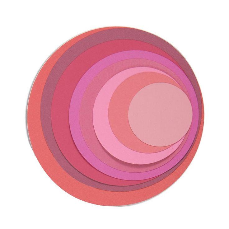 Kruhy hladké (8ks) vyřezávací kovové šablony Framelits