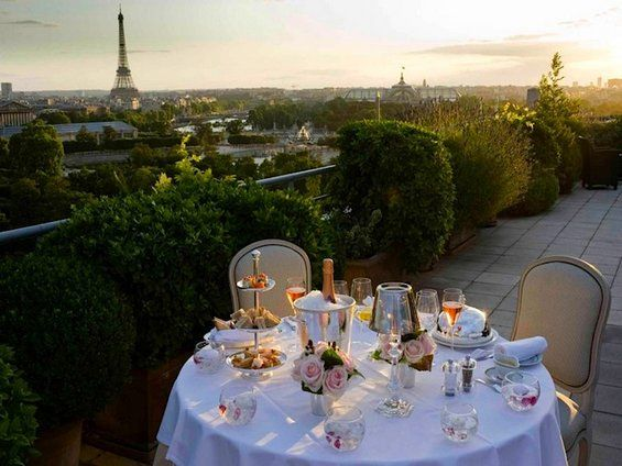 15 HOTEL BALCONIES with BREATHTAKING VIEW. Le Meurice, Paris, France