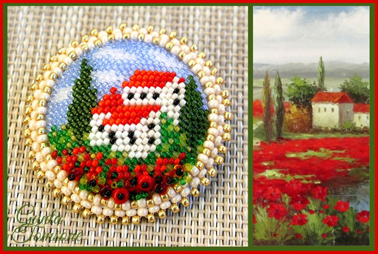 TUSCAN POPPIES - FREE Pattern from MoonPerl Blog. Page 1 of 2