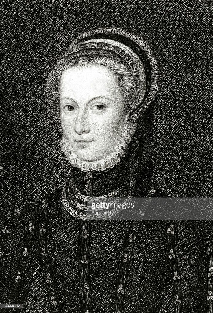 History Illustration, Scottish Royalty, pic: 1570, Mary Stuart, Mary Queen of Scots, (1542-1587), Leading a tragic life Mary Queen of Scots was executed in 1587 on the orders of Queen Elizabeth I as she was a threat to the crown with her Roman Catholic beliefs