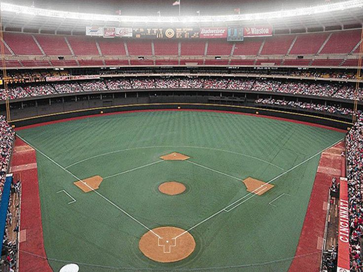 Riverfront Stadium, aka Cinergy Field 1970-2002