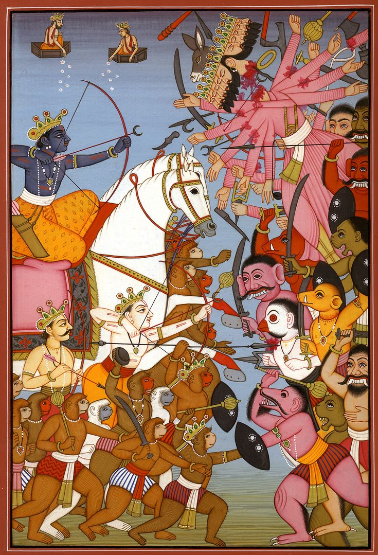 113 best ideas about 064 the ra ana hindus sri rama killing ravana an episode from rama katha
