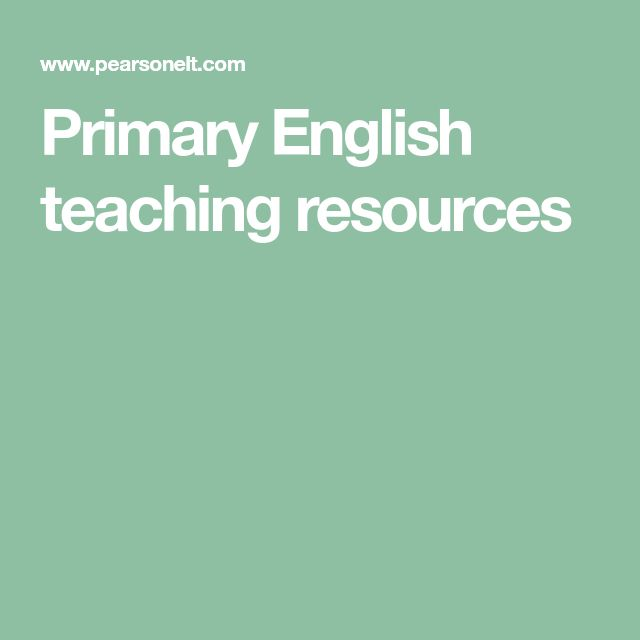 Primary English teaching resources